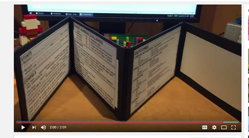 How to Make An Easy RPG GM Screen – Small Shiny Objects
